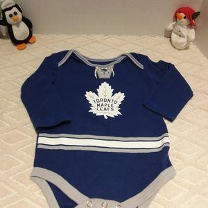 Toronto Maple Leafs jersey onesie